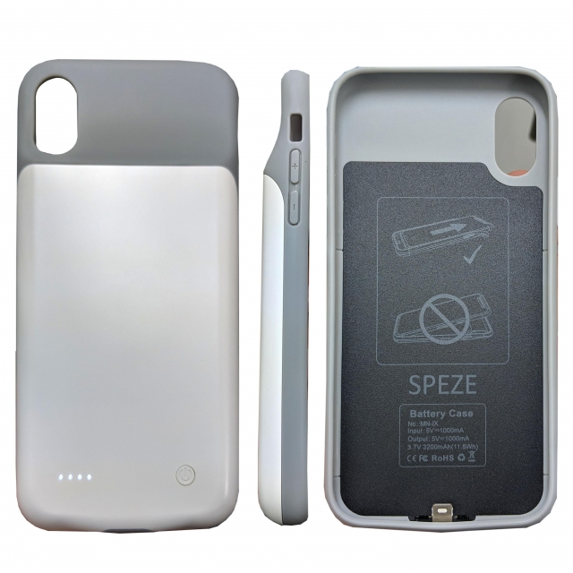 SPEZE IPHONE X POWER CASE WHITE
