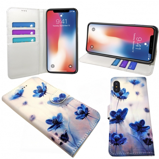 IPHONE XS MAX 6.5 BLUE FLOWER PRINT