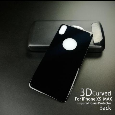 IPHONE XS MAX 6.5 BACK GLASS BLACK