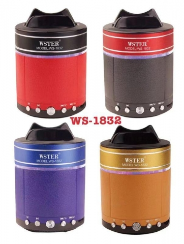 BLUETOOTH SPEAKER WS 1832  MIX COLOR
