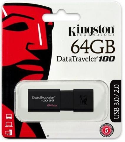 Kingston 64GB DataTraveler 100 G3