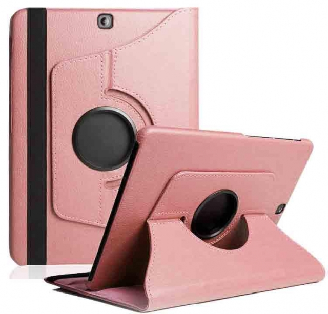7 8 INCH UNIVERSAL ROTATING CASE ROSE PINK