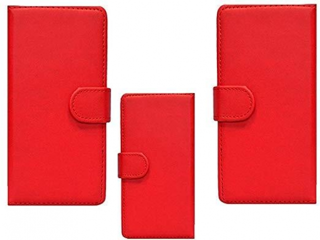 SAMSUNG J4 CORE AND J4 PLUS 2018 BOOK CASE RED