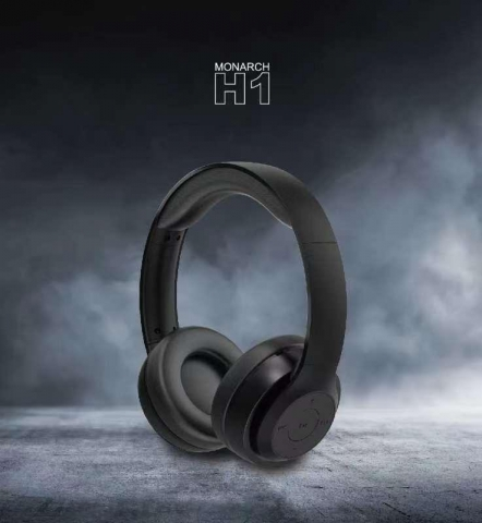 Monarch H1 Wireless Headphones BLACK