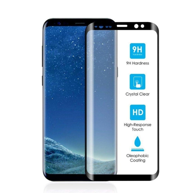 SAMSUNG S10 PLUS TEMPERED GLASS CURVED BLACK
