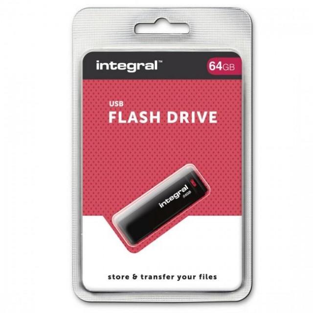 INTEGRAL 128GB USB DRIVE BLACK