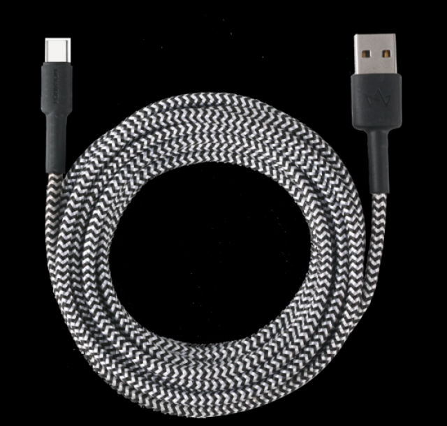 Monarch Micro Cable Z Series 3 METER Black/White