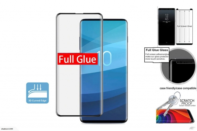 SAMSUNG S10 FULL GLUE TEMPERED GLASS PREMIUM