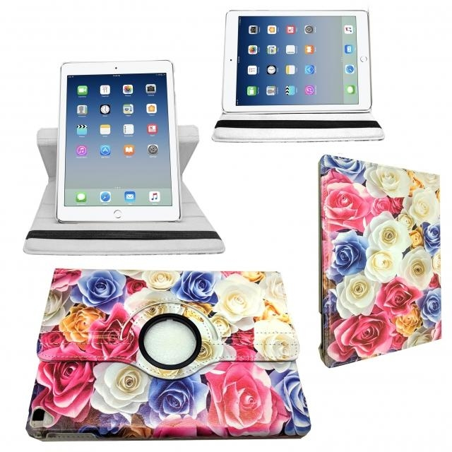 SAMSUNG TAB T510 ROTATING CASE NEW FLOWER