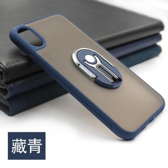 IPHONE 11  MATT CASE WITH AIR-VENT HOLDER BLUE