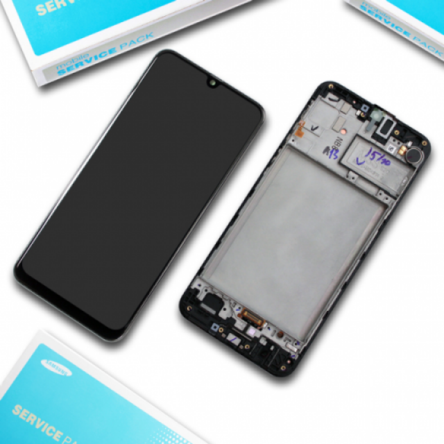 SAMSUNG A30S LCD BLACK SERVICE PACK