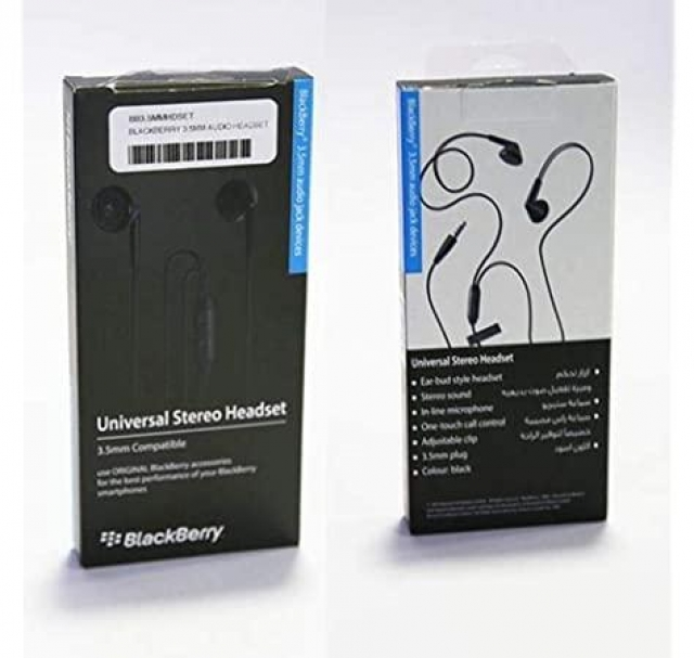BLACKBERRY HANDFREE 3.5 JACK BLACK