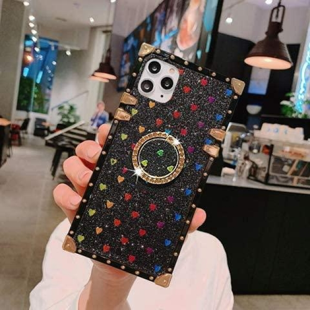 IPHONE 11 PRO MAX BOX GLITTER CASE BLACK