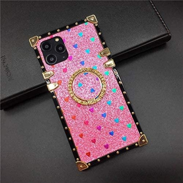 IPHONE 11 GLITTER BOX CASE PINK