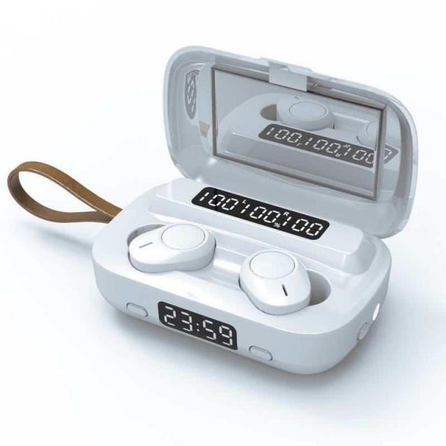 BT V5 Wireless Earbud WHITE