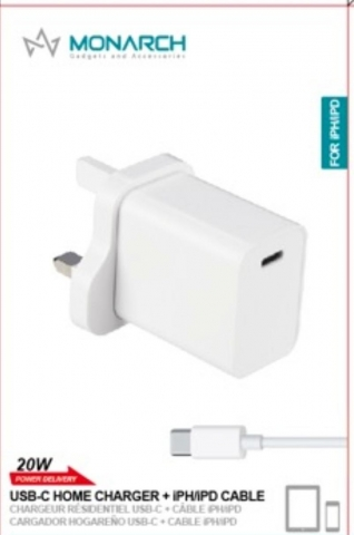Monarch USB-C PD 20W iPhone Charger