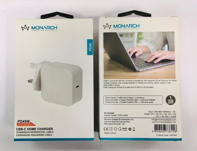 Monarch 45W USB-C PD Home Charger