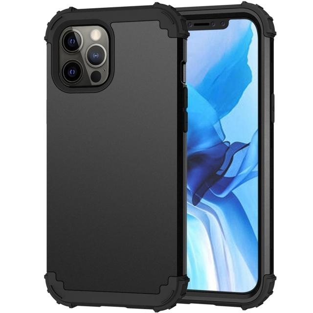 IPHONE 11 PRO MAX 5.8 2IN1 HEAVY DUTY CASE BLACK