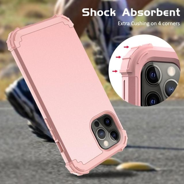 IPHONE 11 PRO MAX 5.8 2IN1 HEAVY DUTY CASE ROSE