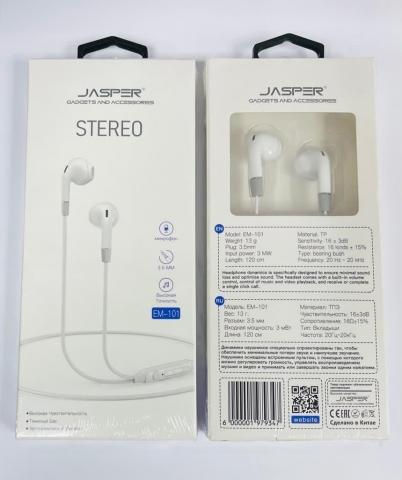 JASPER EN 101 STEREO EARPHONE 3.5 JACK