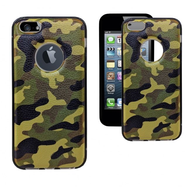 IPHONE 5 ARMY COLOUR HARD CASE GREEN