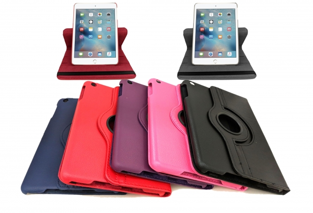 IPAD AIR ROTATING 360 FLIP CASE HOT PINK