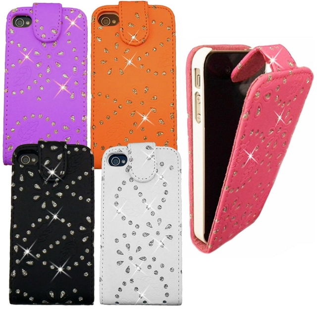 IPOD TOUCH 4 GLITTER FLIP CASE PINK