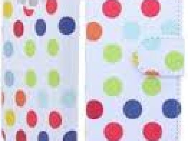 SONY XPERIAM POLKA DOTS ON WHITE BOOK FLIP CASE