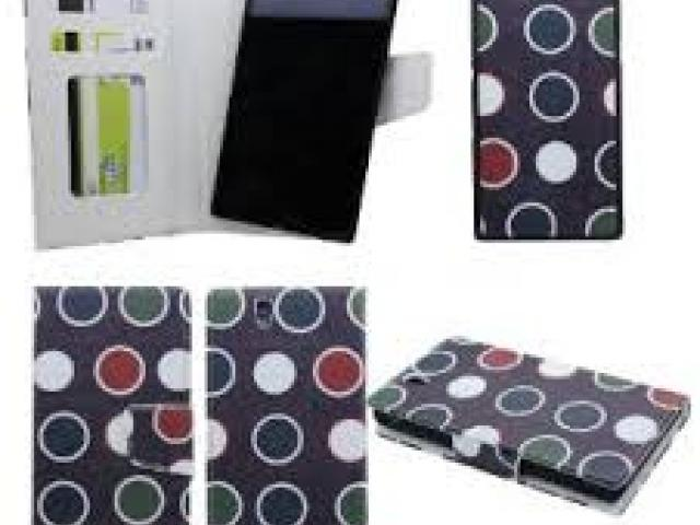 SONY XPERIAZ  MAGNETIC BOOK FLIP CASE 2 IN 1 POLKA DOTS BLACK