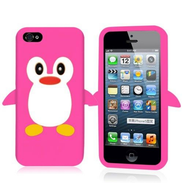 IPOD TOUCH 4 PENGUIN PRINTED GEL CASE PINK