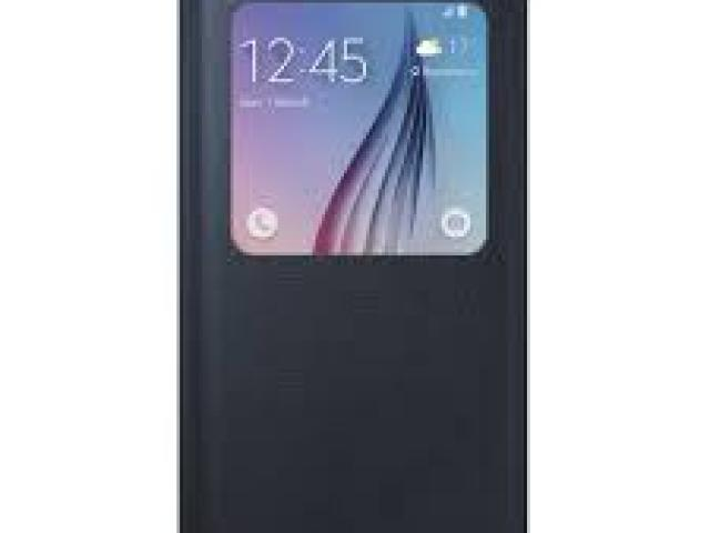 SAMSUNG S6 S VIEW BOOK FLIP CASE BLACK