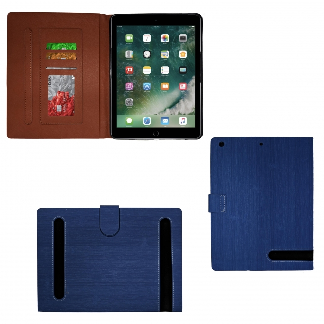 IPAD AIR BLUE LEATHER BOOK FLIP CASE