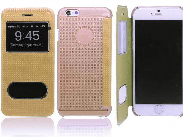 IPHONE 6 MTU WINDOW BOOK FLIP CASE GOLDEN