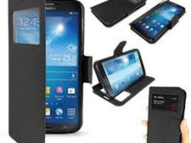 SAMSUNG S6 EDGE PLUS WINDOW CASE BLACK