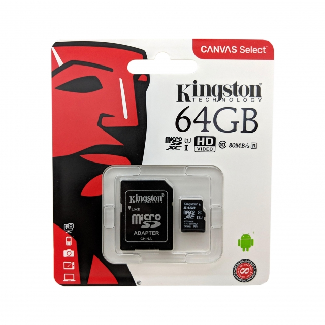 MICRO SD CARD 64GB KINGSTON class 10