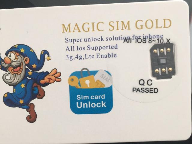 MAGIC SIM GOLD FOR IPHONE UNLOCKING