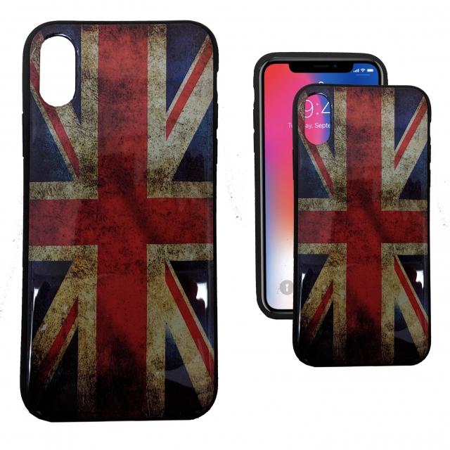 IPHONE X PRINTED GEL UK FLAG HARDCASE