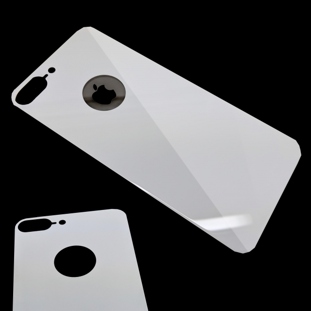 IPHONE 7 PLUS/8 PLUS BACK TEMPERED GLASS WHITE