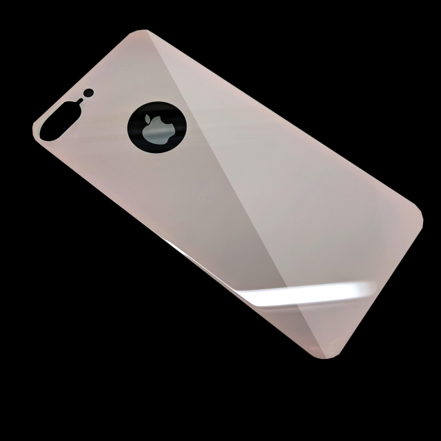 IPHONE 7 PLUS/8 PLUS BACK TEMPERED GLASS PINK
