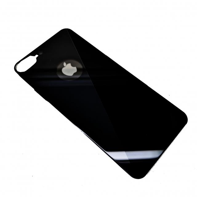 IPHONE 7 PLUS/8 PLUS BACK TEMPERED GLASS BLACK