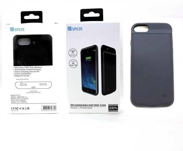 SPEZE IPHONE 6 PLUS 7 PLUS 8 PLUS POWER CASE BLACK 4000MH