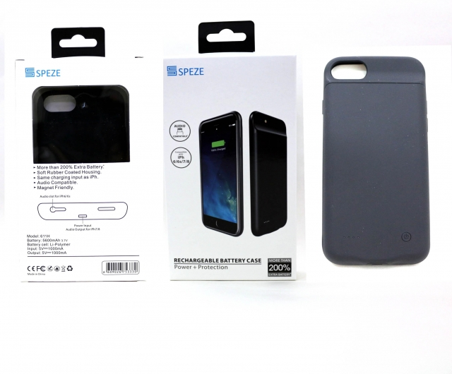 SPEZE IPHONE 6 7 8 POWER CASE BLACK 5600M