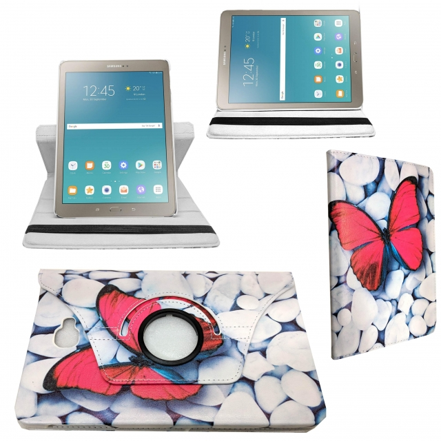 UNIVERSAL 7 8INCH WHITE BUTTERFLY 360 CASE